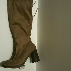 Rue21 Taupe *Suede Look* TALL Over-Knee Boots